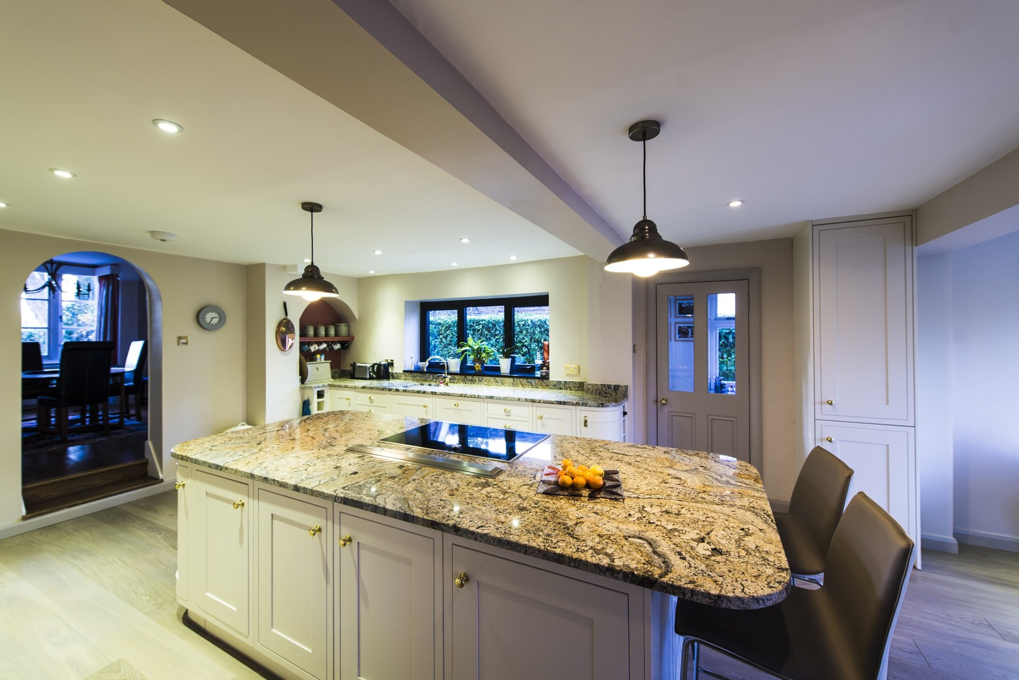 Kashmir Gold Granite Kitchen Betchworth Surrey Bespoke Paisley Gold Granite Kitchen Worktops