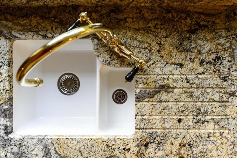 Bespoke Paisley Gold granite worktops Surrey