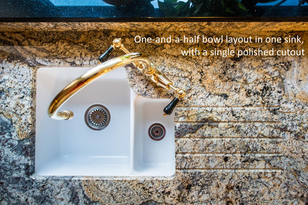 paisley gold granite betchworth surrey sink cutout worktop quotation