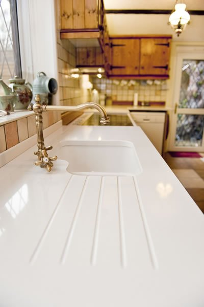 Arcadia Quartz Worktops installation in Pulborough