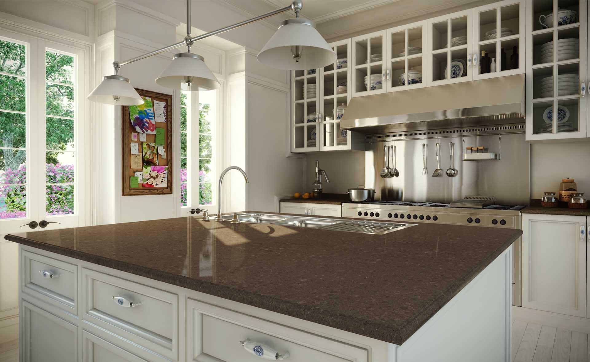 quartz worktops sussex east caesarstone classico 4360 wild rice