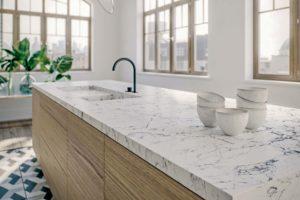 Caesarstone 5143 White Attica quartz worktop
