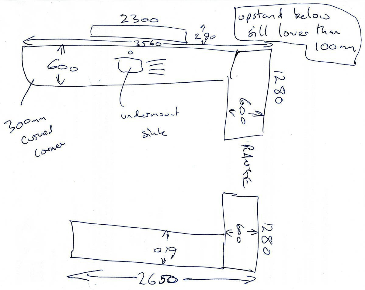 rough plan worktop quotation