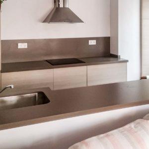 silestone unsui quartz worktops galley kitchen