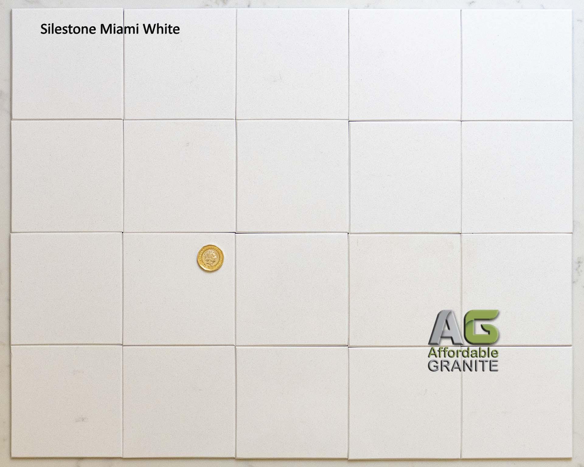 small sparkles Silestone Miami white redw