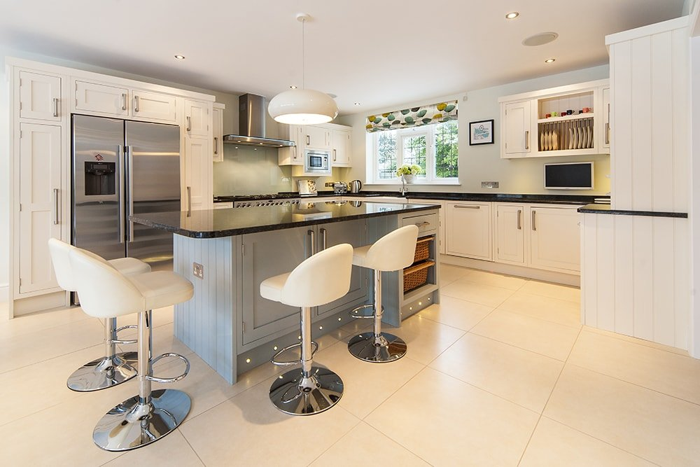Steel Grey Granite Worktops, Yew Tree Kitchens, Cuckfield, West Sussex