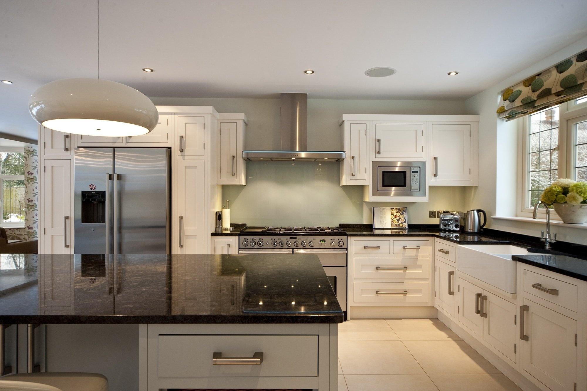 White Cupboards Grey Worktop
