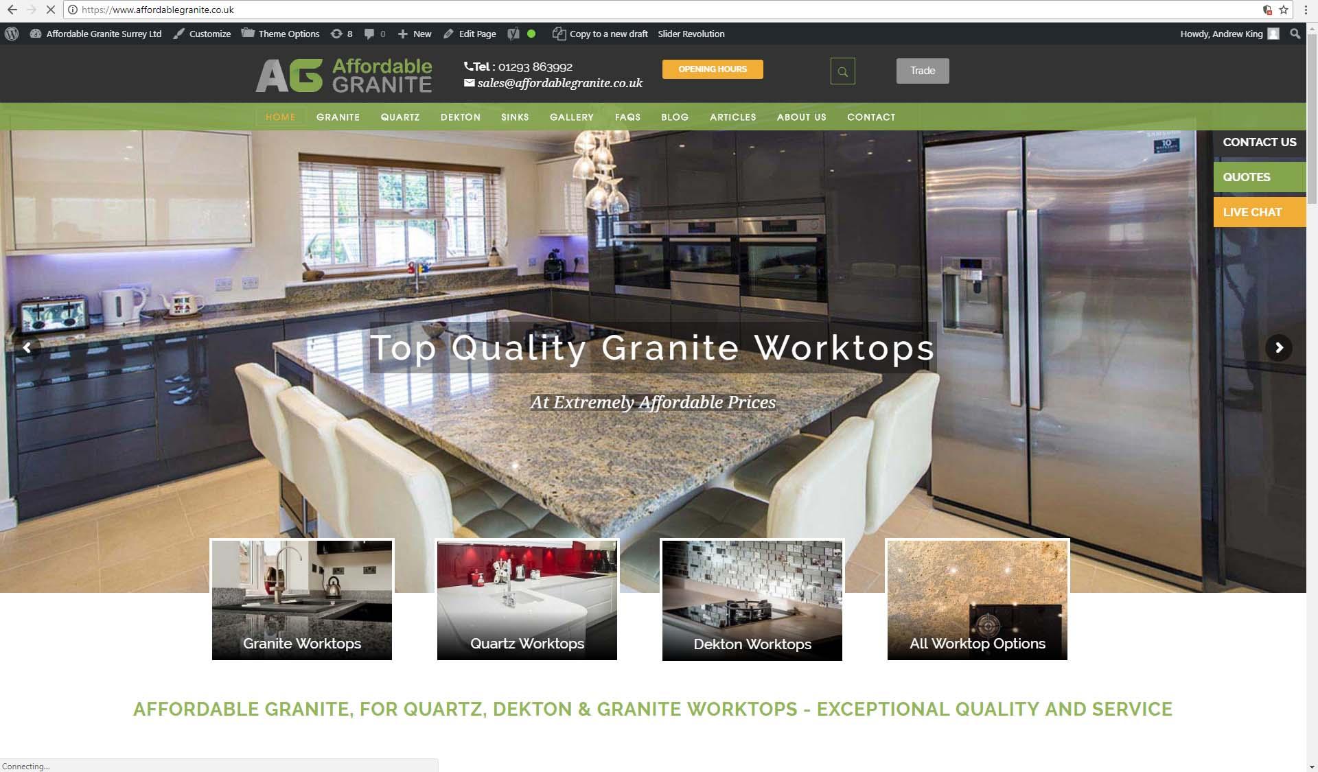 granite worktop photos website blog