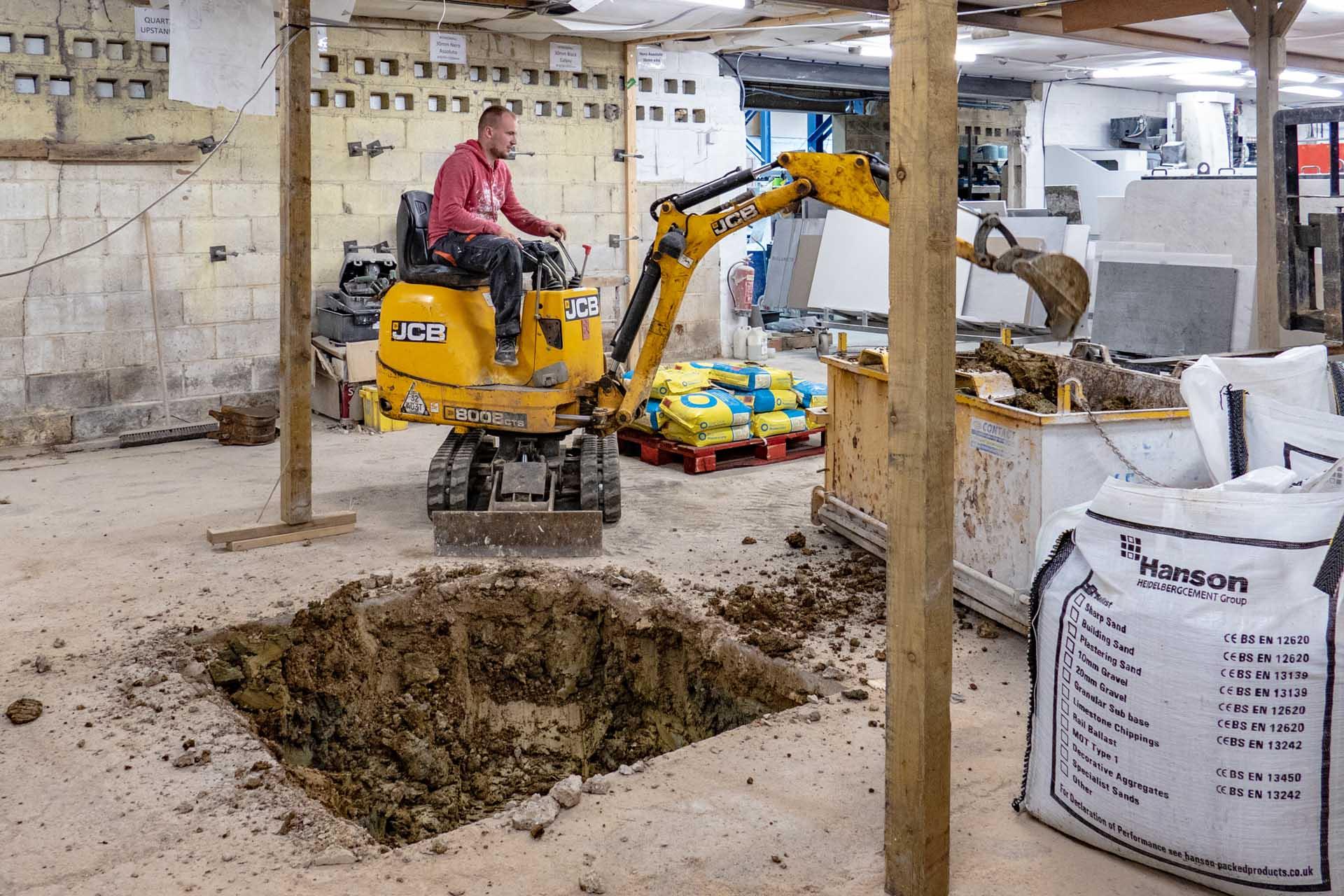 best granite worktops workshop CNC crane footing 181013 102725-a